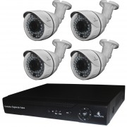 Kit Cctv Digital 4 Camaras Ip Megapixel Video 720p Nvr Onvif