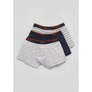 Matalan Mens 3 Pack Hipster Boxers in Small, Grey