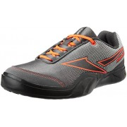 Reebok Men's Athletic Run 2.0 Grey, White, Red and Black Running Shoes - 10 UK/India (44.5 EU)(11 US)
