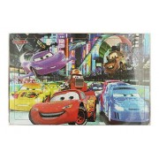 Wooden Cartoon Puzzles Set 204 Pieces Jigsaw Puzzle Learning Gift for Kids (1 Piece, Cars 2)