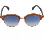 Ray-Ban Clubmaster Sunglasses(Blue)