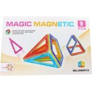 Set de constructie magnetic 3D Magnetic Magic Power 9 piese 5MG