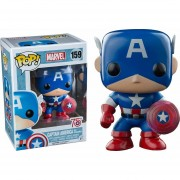 Funko Pop Capitan America Photon Shield Exclusivo Escudo De Fotones Aniversario Marvel Captain Avengers Clasivo-Azul