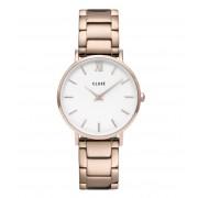 CLUSE Horloges Minuit Three Link Rose Gold Plated Roségoudkleurig
