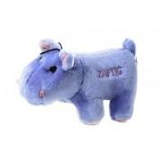 Copa Judaica Chewish Treat Zaftig Hippo Squeaker Plush Dog Toy, 7 by 3 by 4-Inch, Blue