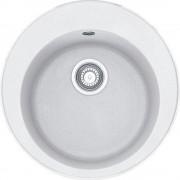 Chiuveta Franke Rotondo ROG 610 Bianco 114.0531.717, ø510, cuva ø400, tehnologie Sanitized