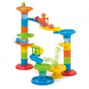 Joc de construit Turnul Cu Rollercoaster Miniland, 27 piese, 3 bile, 1 an+