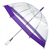 Umbrela transparenta tip clopot-violet