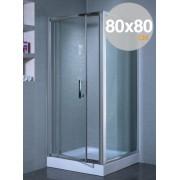 Box cabina doccia in cristallo trasparente mm 6 mod. Indira cm. 80x80