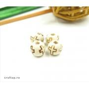 Mărgele rotunde cu cruce 10mm (100g)