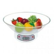 Кухненски кантар SAPIR SP 1651 C1, дигитален, до 5 кг, точност до 1гр, LCD дисплей, автоматично и ръчно изключване, прозрачен