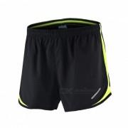 Pantalones deportivos ARSUXEO Sport Marathon Running Pantalones cortos - Negro + Verde (M)