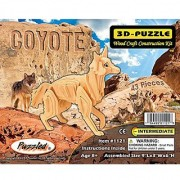 Puzzled Coyote Wooden 3D Puzzle Construction Kit