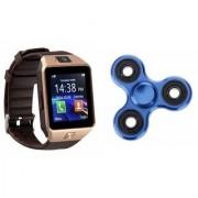 Zemini DZ09 Smart Watch and Fidget Spinner for LG OPTIMUS L1 II DUAL(DZ09 Smart Watch With 4G Sim Card Memory Card| Fidget Spinner)