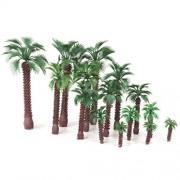 ELECTROPRIME® 15 Model Palm Trees Railway Warhammer Scenery Wargame Plastic Tree HO Scale