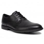 Обувки CLARKS - Ronnie Walk 261438107 Black Leather 261438107