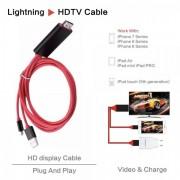 Cablu HDTV 2m Adaptor HDMI 1080P Conectare iPhone 6 6s 7 IOS 10 la TV