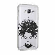 Husa Silicon Transparent Slim Woman B and W Samsung Galaxy J3 2016