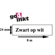 Lettertape TZE-251 24mm Zwart-Wit Huismerk