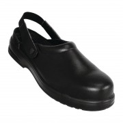 Lites Safety Footwear Lites Unisex Safety Clogs Black 38 Size: 38