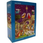 "Ingrid ""Away In A Manger"" 1,000 Piece Jigsaw Puzzle Christmas Nativity Scene"