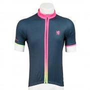 【セール実施中】【送料無料】半袖ジャージ スプラッシュ 男女兼用 メンズ レディース 自転車ウェア lihs012 グレー×シャインピンク