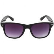 Adam Jones Purple Wayfarer Sunglasses For Men And Women (Matt Finish Black Frame with Gradient Lens)