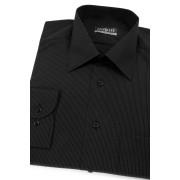 Pánská košile černá s jemným bílým proužkem Avantgard 511-2300-40/182