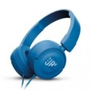 Слушалки JBL T450, микрофон, сини