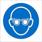 Unbranded Mandatory Sign Eye Protection vinyl 15 x 15 cm
