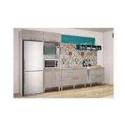 Cozinha Completa Art In Móveis Mia Coccina c 10 Peças CZ43 - Cor Branco c Rústico