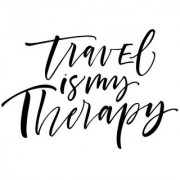 travel is my therapy sticker poster|travelling quotes|for travellers|size:12x18 inch|multicolor