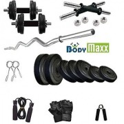 Body Maxx PVC-COMBO- Home Gym 6 kg with 3feet curl bar and dumbbells rods