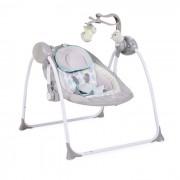 Muzička ležaljka za bebe Swing siva