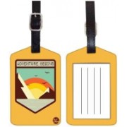 Nutcaseshop SUN RISE Luggage Tag(Multicolor)