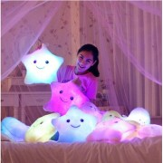 Luminous Juguetes Star Glowing Pillow Christmas Toys For Children Led Light Plush Cushion Star Pillow Kids Toys For Girls