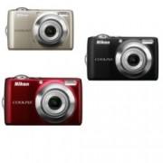 "Фотоапарат Nikon Coolpix L22 +подарък 2бр. акум. батерии Varta 2100mAh & калъф, 12Mpix, 3.6xOptical, 4xDigital zoom, 3"" (7.62 cm) екран, поддържа SD"