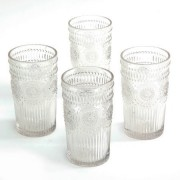 The Pioneer Woman The Pioneer Woman Adeline 16-Ounce Emboss Glass Tumblers Set Of 4 Clear Set Of 2