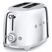 Тостер SMEG TSF01SSEU, 3 степени, автоматично изключване, ретро дизайн, 950W