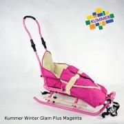 Saniuta pentru copii Kummer Winter Glam Plus Magenta