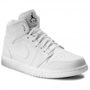 Обувки NIKE - Air Jordan 1 Mid 554724 110 White/Black/White
