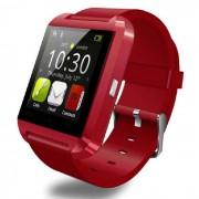M8 (U8) Smart Watch Bluetooth w/ Pantalla con Camara - Rojo + Negro