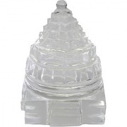Sphatik Shree Yantra / Quartz Crystal Shri yantra
