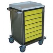 carrello multifunzione in acciaio inox - con 7 cassetti - 67x63xh.104c