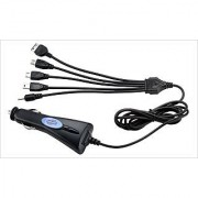 5 IN 1 UNIVERSAL CAR CHARGER WITH LONG TELEPHONE LIKE WIRE-WORKS FOR ALL IPHONE SAMSUNG ANDROID PHONES