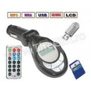 Modulator FM cu Telecomanda, Ecran LCD, Slot SD/MMC si Port USB