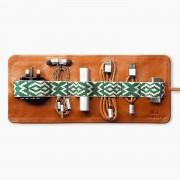 Mantidy Herringbone TechRoll Tan Phone Accessories Kit