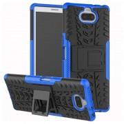 Anti-Slip Sony Xperia 10 Hybrid Case - Blue / Black