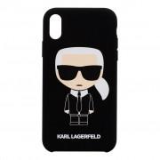 Karl Lagerfeld Ochranný kryt pro iPhone XR - Karl Lagerfeld, Ikonik Black Back