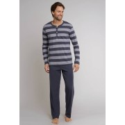 Schiesser Nachtmode Ebony Pyjama Lang Antraciet / male